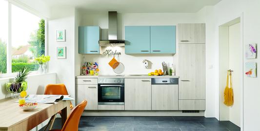 Küchenzeile mit Kühlschrank, Herd & weiteren Geräten günstig ...